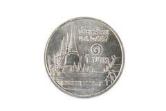 Ein-Baht-Münzen, Münze von Thailand Stockfotografie