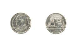 Ein-Baht-Münzen, Münze von Thailand Lizenzfreies Stockbild