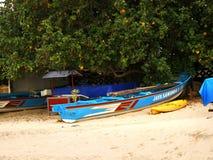 Ein Balineseboot auf Sand Lizenzfreies Stockbild