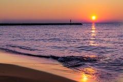 Ein baltischer Sonnenuntergang Lizenzfreies Stockfoto