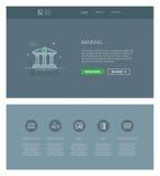 Ein Bankkonto haben der Designschablone für Website und apps Lizenzfreies Stockbild