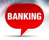 Ein Bankkonto haben des roten Blasen-Hintergrundes lizenzfreie abbildung