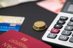Ein Bankkonto haben und Reise Stockfotos