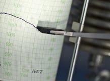 Ein Barometer, das ein Diagramm zeichnet Stockfotografie