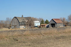 Ein Bauernhof-Standort Abandonded Minnesota Stockfotos