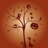 Ein Baum des Halloween-Tages Stockfoto