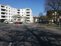 Ein beadhouse Gebäude unter dem Recklinghausen Sun Lizenzfreie Stockfotos