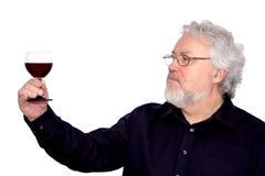 Ein Becher Wein in der Hand Stockbilder