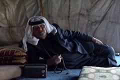 Ein Beduine von Jordanien Stockbild