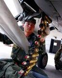 Ein Befreiungsarmee-Luftwaffenkämpfer der jungen Leute zum Kämpferluftspiel Stockbild