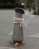 Ein Beitrag kleidete richtig für den Winter in Seattle, Washington 7 an Stockbild