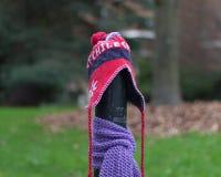Ein Beitrag kleidete richtig für den Winter in Seattle, Washington 26 an Stockbilder