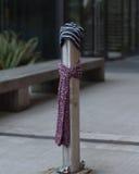 Ein Beitrag kleidete richtig für den Winter in Seattle, Washington 28 an Stockfotografie
