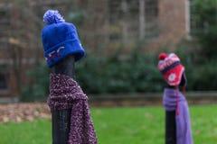 Ein Beitrag kleidete richtig für den Winter in Seattle, Washington 25 an Lizenzfreie Stockfotografie