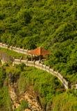 Ein Beitragsschutz in Uluwatu-Tempel Stockfotos