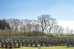 Ein belgischer Soldaterster weltkrieg des Kirchhofs Stockbilder