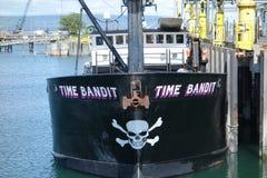 Ein berühmtes Krabbenboot in Alaska Stockbild
