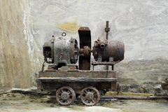 Ein Bergbauwagen lizenzfreie stockfotos
