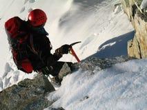 Ein Bergsteiger, Lizenzfreies Stockbild
