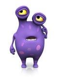 Ein beschmutztes Monster, das verwirrt schaut. lizenzfreie abbildung