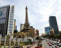 Ein besetztes Las Vegas Boulevard Stockbilder