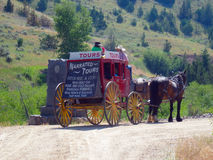 Ein bespannter Buggy in Idaho stockbild