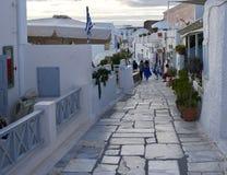 Ein Besuch die Trauminsel von Santorini Griechenland stockfotografie