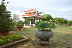 Ein bewölkter Tag auf dem Ho Chi Minh-Denkmalstandort vietnam Lizenzfreies Stockfoto