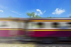 Ein beweglicher Zug Lizenzfreie Stockfotografie