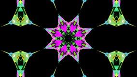 Ein bewegliches Kaleidoskop von Blumenmustern schleifung vektor abbildung