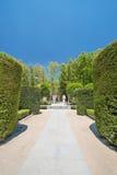 Ein Bild der königlichen Gärten in Madrid stockbild
