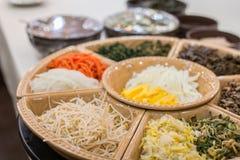 Ein Bild der koreanischen traditionellen Nahrung stockfotografie