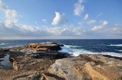 Ein Bild der Landschaft von Senjojiki fand in Shirahama Stockfotografie