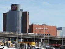 Ein Bild der Stella Artois-Brauerei in Löwen stockfoto