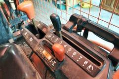 Ein Bild des Geschwindigkeits-Traktor-Schalthebel-Griffs Lizenzfreie Stockfotografie