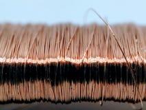 Ein Bild des Kupferdrahts stockfotos