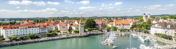 Ein Bild des schönen Hafens bei Lindau Deutschland Lizenzfreies Stockfoto