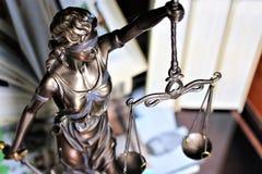 Ein Bild einer Gerechtigkeit - justitia, Gesetz, legal lizenzfreies stockfoto