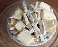 Käseservierplatte Stockbilder