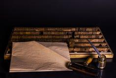 Ein Bild einer Maschine des erfahrenen Arbeiters Druck Stockfotos