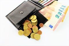 Ein Bild eines Geldbeutels mit Geld Stockbilder