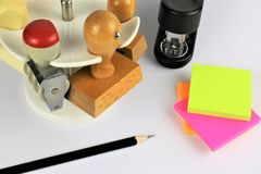 Ein Bild eines Geschäftskonzeptes mit Stempel stockbilder