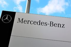 Ein Bild eines Mercedes Benz-Logos - schlechtes Pyrmont/Deutschland - 10/14/2017 Lizenzfreie Stockbilder