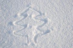 Ein Bild eines Schneebaums lizenzfreies stockfoto