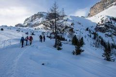 Ein Bild eines Winters Ausflug wandernd stockfoto