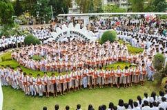 Ein Bild von Studenten an der Graduierungsfeier Lizenzfreies Stockbild