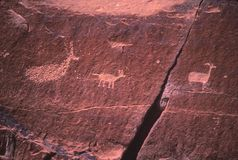 Ein Bilddagramm geschaffen von den alten Indern Stockbilder