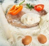 Ein Blatt Tomate Stockfotos