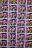 Ein Blatt von altem Elvis Stamps Stockbild