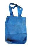 Ein blauer Baumwollbeutel Stockfotos